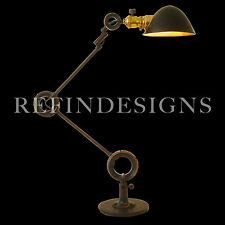 EDON COIL SPRING ART DECO INDUSTRIAL MACHINE AGE EXTENSION TABLE LAMP 1920