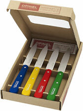 Opinel No. 112 Paring Knife 10 cm Box Of 4 Assorted Classic Colors 1233 NEW