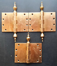 "Vintage 5""x7"" Kansas State House Bronze Steeple Tip Finial Exterior Door Hinges"