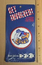 NIP Vintage VOTE Red White Blue Eagle Banner Voting Protest Patch Badge