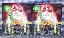 4 Refills AirWick Life Scents BERRY COOL WINTER Mint Cream Scented Oil (2 Packs)