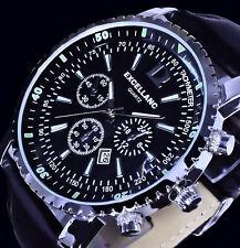 Excellanc Uhr Herrenuhr Armbanduhr Black Schwarz Silber Farben Datum