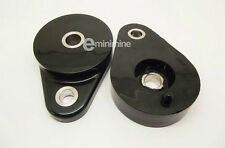 CLASSIC MINI POLYFLEX FRONT SUBFRAME PEAR MOUNTS BLACK PAIR POLY TEAR DROP 2CA10