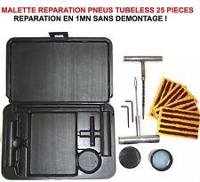 PROMO! MALETTE 25 PIECES REPARATION PNEUS TUBELESS 1MN 0 DEMONTAGE 4X4 AUTO MOTO