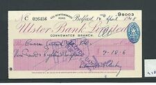 wbc. - CHEQUE - CH978 - USED -1948 - ULSTER BANK, NEWTOWNARDS RD. CONNSWATER
