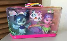 MATTEL 2006#Fairytopia BARBIE TUMBIES Magic of the Rainbow Blue Owl + Pink Fawn