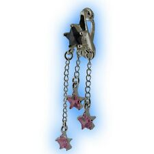 Fake Belly Button Ring Non Piercing Navel Clip Purple Pink Shooting Stars