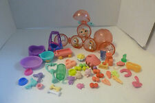 Hasbro Littlest Pet Shop Baby Hamster Triplets Accessories 1479 1478 1477 Lot
