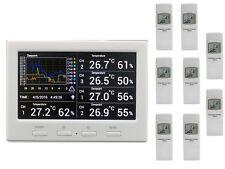Funk Thermometer Froggit DL5000 Wetter Datenlogger  inkl. 8 Funksensoren