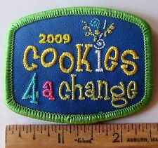 """Girl Scout 2009 COOKIE SALES PATCH """"COOKIES 4 FOR A CHANGE"""" Imagine If Elephant"""