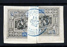 OBOCK 1894 Imperforate 25c. Cent DOUBLE BISECTS ON PIECE DJIBOUTI CANCEL SG 72