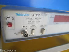 TEKTRONIX CFC250 100MHz FREQUENCY COUNTER - ONE UNIT WITH BROKEN KNOB