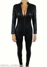 FUTURISTIC POLICE COP X-MEN JUMP SUIT SPACE CAPTAIN PILOT DOMINATRIKS COSTUME