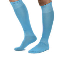 FOOTBALL PLAIN LONG SOCKS SPORT KNEE HIGH LARGE HOCKEY RUGBY MENS WOMENS Color5H