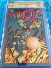 Batman Punisher Lake of Fire # - DC Marvel - CGC SS 9.4 NM - Signed by B Kitson