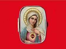 VIRGIN MARY OUR LADY OF GUADALUPE SAINT RELIGIOUS MEDAL METAL PILL MINT BOX CASE