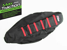 HONDA CRF250 CRF250R 2014 2015 RIBBED SEAT COVER BLACK WITH RED STRIPES RIBS
