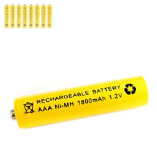 8 pcs AAA 3A 1800mAh 1.2V Ni-MH rechargeable battery Solar Light MP3 RC Yellow