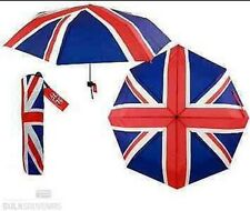 1x FOLDING UMBRELLA UNION JACK FLAG BROLLY + COVER OLYMPICS JUBILEE BRITISH