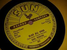 CARL PERKINS : GLAD ALL OVER / LEND ME YOUR COMB.  US.Original Sun 78rpm (1957)