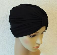 Black Turban, Chemo Hat,Turban for Hair Loss, Full Turban Hat, Chemo Cap