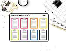 1136~~Clipboard To Do List Planner Stickers.