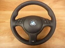 Glates NERO VOLANTE IN PELLE BMW e46 M VOLANTE CON MASCHERINA MULTIFU. e airbag