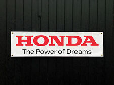 Honda Power Of Dreams Car Banner for Garage / Shop Display Civic Type R DC5 Jazz