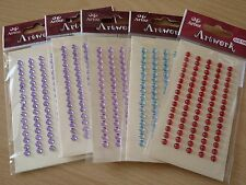 5mm self adhesive round Gems, Strass Stones, Crystals for cards, 5 packs