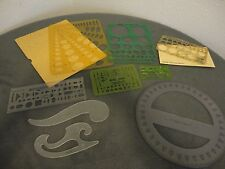 Vintage Lot of 9 Architectural Engineering Drafting Shapes Templates