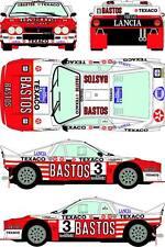 """1/24 Decal Lancia 037 """"Bastos"""" #3 Rally Van Haspengouw 1985 pour kit Hasegawa"""
