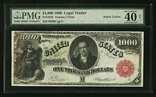 Fr. 187k 1880 $1000 One Thousand Dollars Legal Tender Pmg Ef-40 Ultimate Rarity