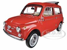 1960 FIAT 500 JARDINIERE RED 1/18 DIECAST CAR MODEL BY NOREV 187722