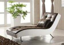 Leder-Look Relax-Liege-Recamiere-Lounge-Relaxliege Chaiselongue 516-M-PU sofort