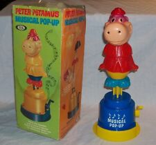 MEGA RARE IDEAL TOYS 1964 Peter Potamus Musical Pop Up with Box! Hanna Barbera