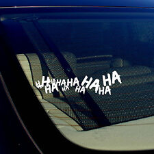 Joker Hahaha Serious Super Bad Evil Body Window Car White Sticker Decal 7.5""