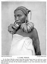 1913 Garo Hills Woman Wearing Many Brass Rings In Each Ear Meghalaya