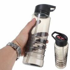 700 ml Flip Straw Drinks Sport Hydration Water Bottle Cycling Hiking BPA Free