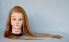 """(USA) 28"""" Cosmetology Mannequin Synthetic Hair Human Head Standard Size Natalie"""