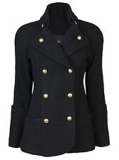 Smythe Reefer Coat- Black- Size 8  $998