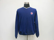 Antigua Chicago Cubs V Neck Sweatshirt sz M Medium SEWN Blue MLB NL Cubbies