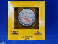 Auto Meter 4337 Ultra Lite Electric Water Temperature Gauge Temp 100 - 250 Deg