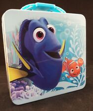New Finding Dory Nemo Tin Metal Lunch Snack Box Storage Container