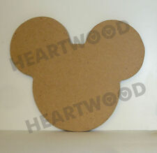 MICKEY MOUSE HEAD SHAPE IN MDF 110mm x 6mm/WOODEN CRAFT SHAPE/BLANK DECORATION