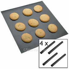 4 x UNIVERSAL Teflon Coated Non Stick Extra Large Baking Oven Sheet Mat Liner