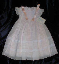 WILL BETH BABY TODDLER GIRL SMOCKED DRESS EASTER CHURCH BAPTISM WEDDING 12-18
