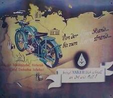 Altes Blechschild Oldtimer Motorrad Anker Werbung Reklame gebraucht  used