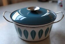 Catherineholm Blue Lotus Pot With Lid Enamel Norway Mid Century Modern 8.5""