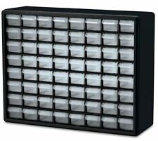 64 Compartment Drawer Small Parts Plastic Organizer Storage Cabinet Arts Crafts