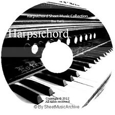 Massive Professional Harpsichord Sheet Music Collection Archive Library on DVD
